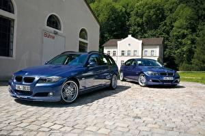 Фотография BMW Синие Двое Металлик 2017 Alpina B3 S Bi-Turbo Cabrio, Alpina B3 S Bi-Turbo Coupe Автомобили