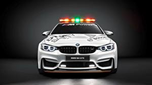 Фото BMW Спереди Белых DTM GTS F82 Safety Car Автомобили
