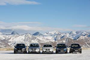 Фото БМВ Горы Спереди Автомобили