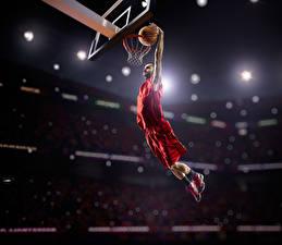 Фотография Баскетбол Мужчины В прыжке Мяч Униформа Спорт