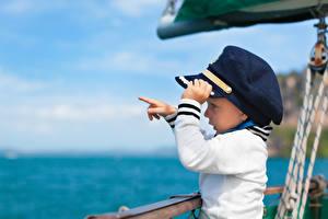 Фотография Мальчики Униформа Шляпа Ребёнок
