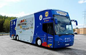 Картинки Автобус Синий Авто