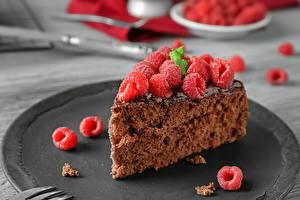 Картинки Пирожное Малина Продукты питания