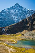 Фотография Канада Парки Гора Озеро Банф Lake Louise
