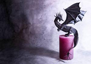 Фотография Драконы Свечи Оригами Бумага