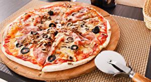 Обои Быстрое питание Пицца Пища