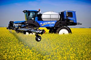 Фотография Поля Сельскохозяйственная техника Рапс 2014-18 New Holland SP.400F