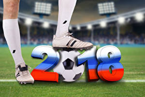 Фото Футбол 2018 Мяч Ноги Кроссовки