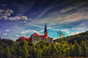 Фотография Германия Замки Небо Schloss Weesenstein Города