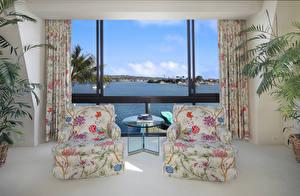 Обои Интерьер Гостиная 2 Кресло Окно