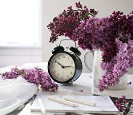Фотография Сирень Часы Будильник