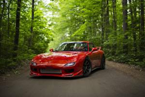 Картинки Mazda Красные RX-7 авто