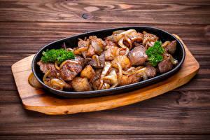 Картинки Мясные продукты Шашлык Еда
