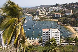 Фото Мексика Побережье Дома Пальма Acapulco город