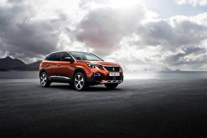 Фотографии Peugeot Оранжевый Металлик 2016 3008 Автомобили