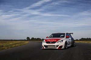 Картинка Пежо Тюнинг Купе Белый 2016 308 Racing Cup