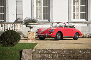 Фото Порше Ретро Красный Кабриолет 1963-65 356C 1600 Cabriolet Авто