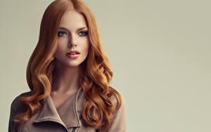 Фото Рыжая Лицо Волосы Красивые Девушки
