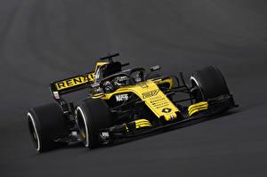 Картинка Рено Формула 1 Серый фон 2018 R.S.18 машины Спорт