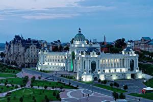 Фотографии Россия Здания Вечер Дворец Дизайн Kazan Agriculturers palace