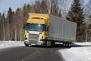 Обои Scania Грузовики 2009-13 R400 4x2 Highline Авто