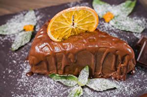Картинки Сладости Пирожное Шоколад Апельсин Пища