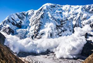 Фото Швейцария Гора Зима Альпы Снег Природа