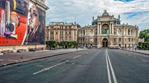 Фото Украина Одесса Здания Дороги National Academic Theatre of Opera and Ballet
