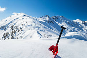 Картинка Зима Горы Снега Природа