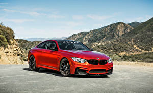 Фото BMW Красный 2015-16 Dinan S1 BMW M4 Coupe Автомобили