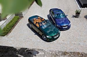 Картинка БМВ Двое Металлик Сверху Кабриолет 2017 Alpina B3 S Bi-Turbo Cabrio, Alpina B3 S Bi-Turbo Coupe Авто