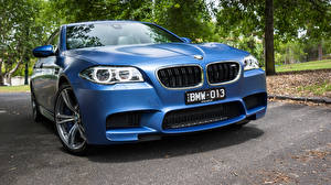 Картинки BMW Синий Седан F10 Машины