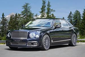 Картинки Bentley Металлик 2017 Mansory Mulsanne Extended Wheelbase