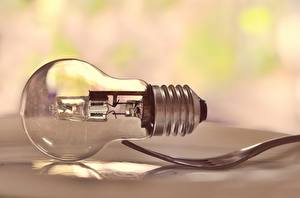 Фото Крупным планом Лампа накаливания Вилка столовая