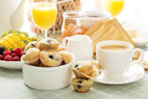 Обои Кофе Капкейк кекс Завтрак Чашка Еда