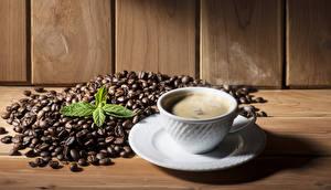 Обои Кофе Доски Чашка Зерна Тарелка Пена Пища