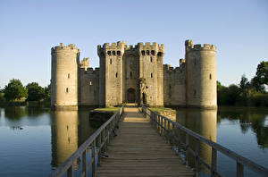 Фото Англия Замки Мосты Bodiam Castle Города