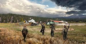 Картинки Far Cry 5 Поля Мужчины