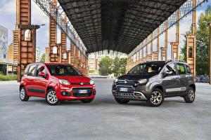Картинка Fiat Двое Металлик 2012-16 Panda Автомобили