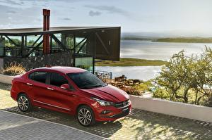 Картинка Fiat Бордовый Металлик Красный 2018 Cronos Precision Машины