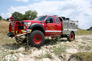 Фотографии Пожарный автомобиль Skeeter Flat-Bed Type 5 Brush Truck