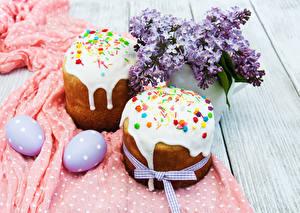 Фотографии Праздники Пасха Кулич Сирень Доски Яйца 2 Дизайн Пища