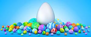 Картинки Праздники Пасха Много Цветной фон Яйца Дизайн 3D Графика