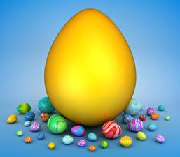 Обои Праздники Пасха Много Цветной фон Яйца Дизайн 3D Графика