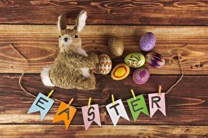 Картинка Праздники Пасха Кролики Доски Английский Яйца Дизайн