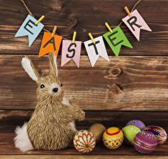 Картинка Праздники Пасха Кролики Доски Английский Яйцо Прищепки
