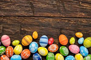 Картинка Праздники Пасха Доски Яйца Дизайн