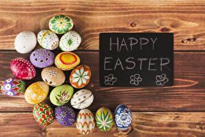 Фотография Праздники Пасха Доски Английский Яйца Дизайн
