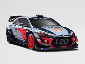 Картинки Хендай Тюнинг Серый фон 2018 i20 Coupe WRC Автомобили