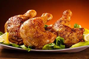 Фото Мясные продукты Курица запеченная Еда